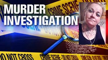 murder investigation graphic with victim photo (website)