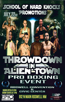 Throwdown in Alien Town Newsflash