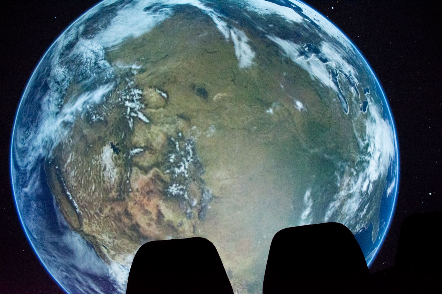 Planetarium with earth