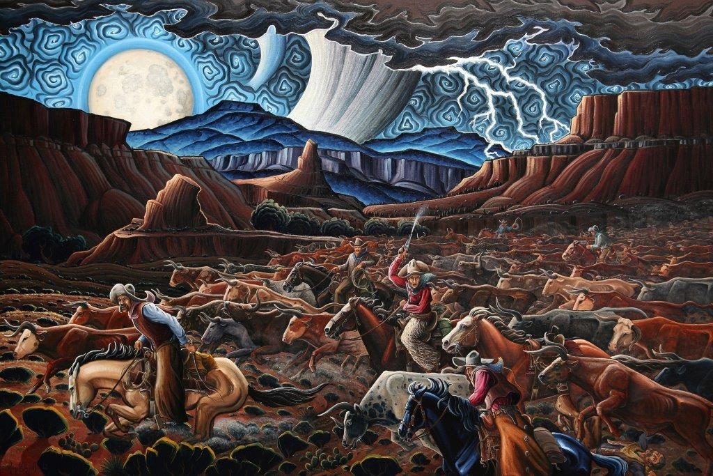 KimWiggins-Stampede at Castle Gap-Oil-40x60-300dpi