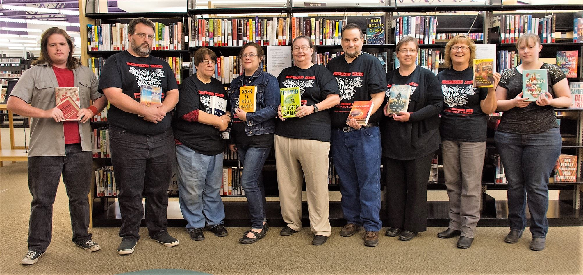 Library staff National Library Week (Apr 2018)