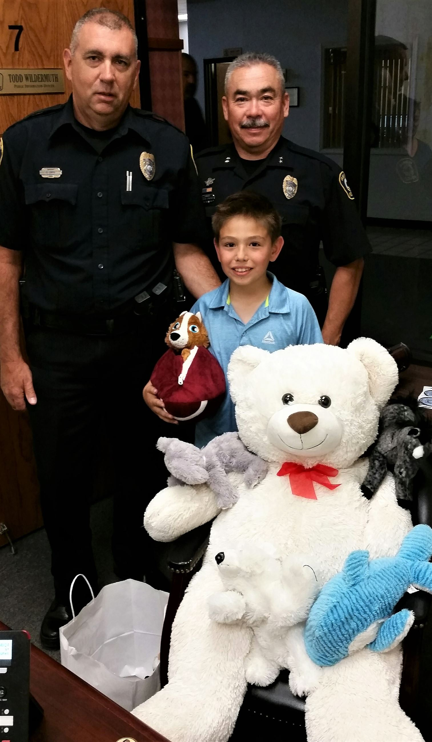 stuffed animals donated by Ryan Wheeler, 8, for other kids (4-24-18)