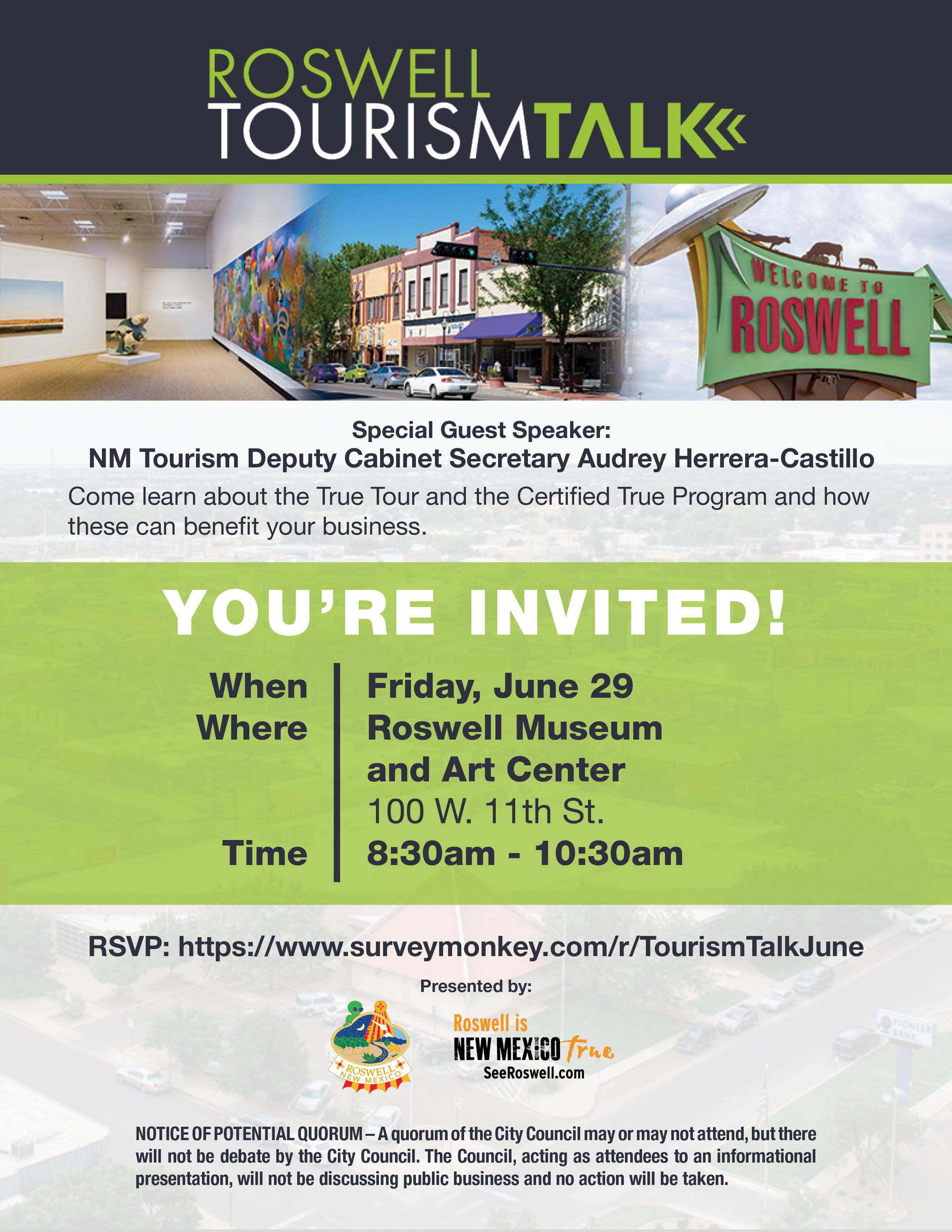 Tourism Talk flyer June 2018