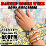 Banned Books Week Craft flyer September 25