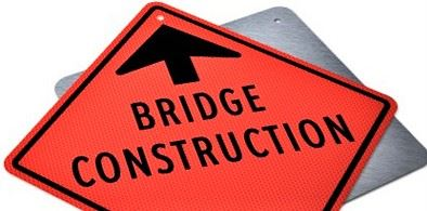 bridge construction sign
