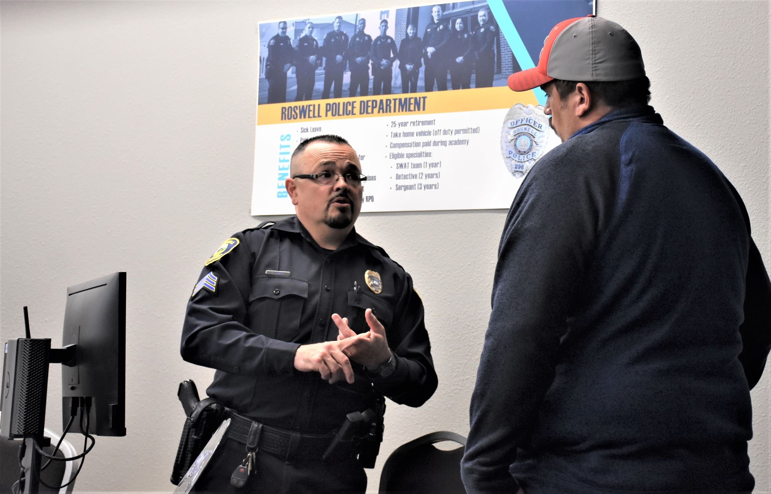 Sgt. Richard Romero at RPD Hiring Event (Jan 2020)