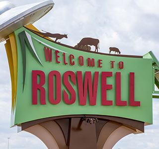 Roswell Entry Sign