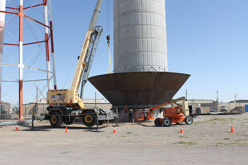 Photo of Tower 1 - welding steel tank sections