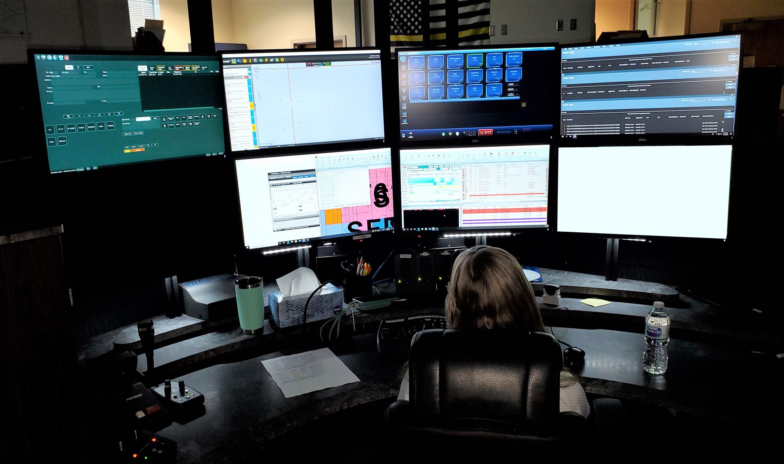 Dispatcher  Darla Shannon multiple screens (7-27-21)
