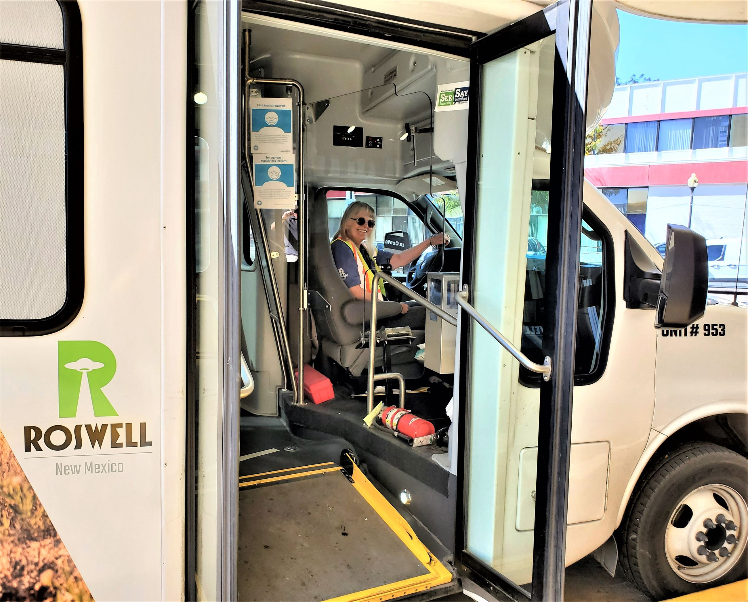 Roswell Transit driver Patricia Hernes
