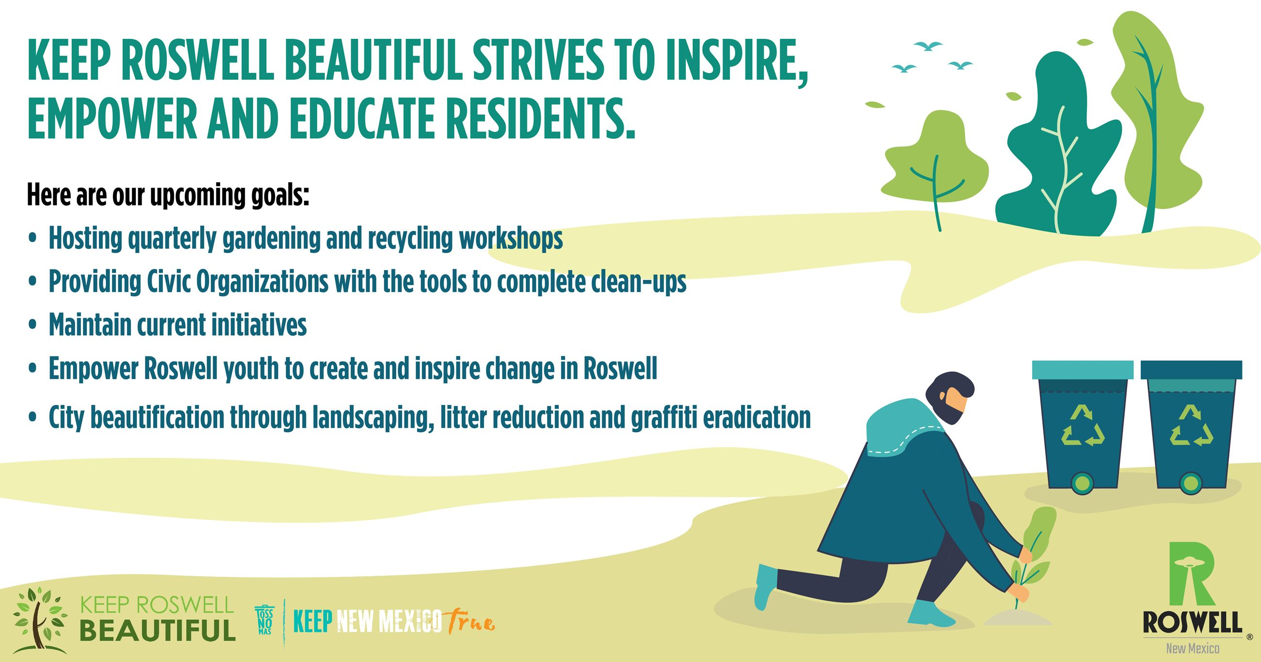 Keep Roswell Beautiful Info-graphic