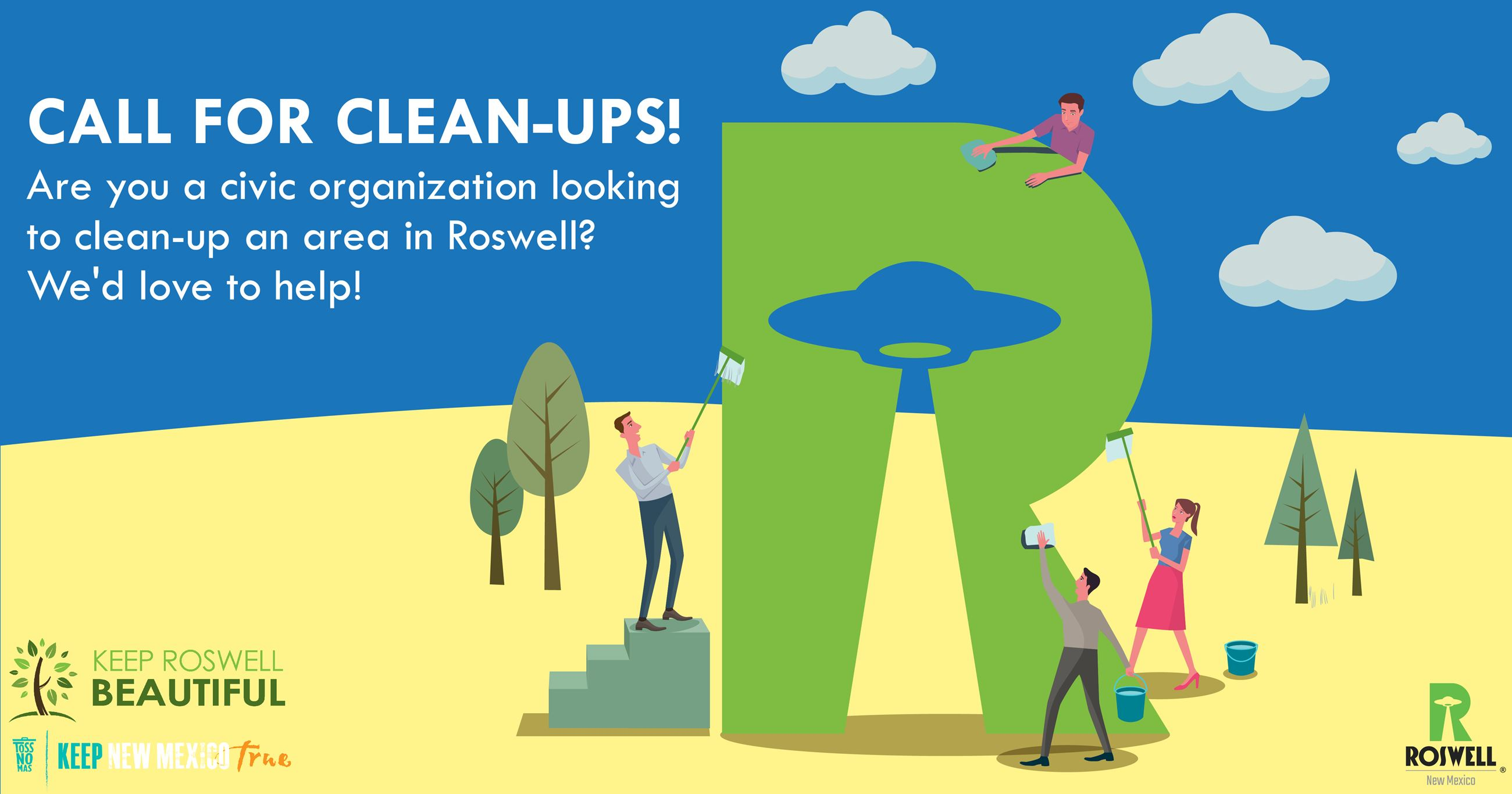 Call For Clean Ups Infographic