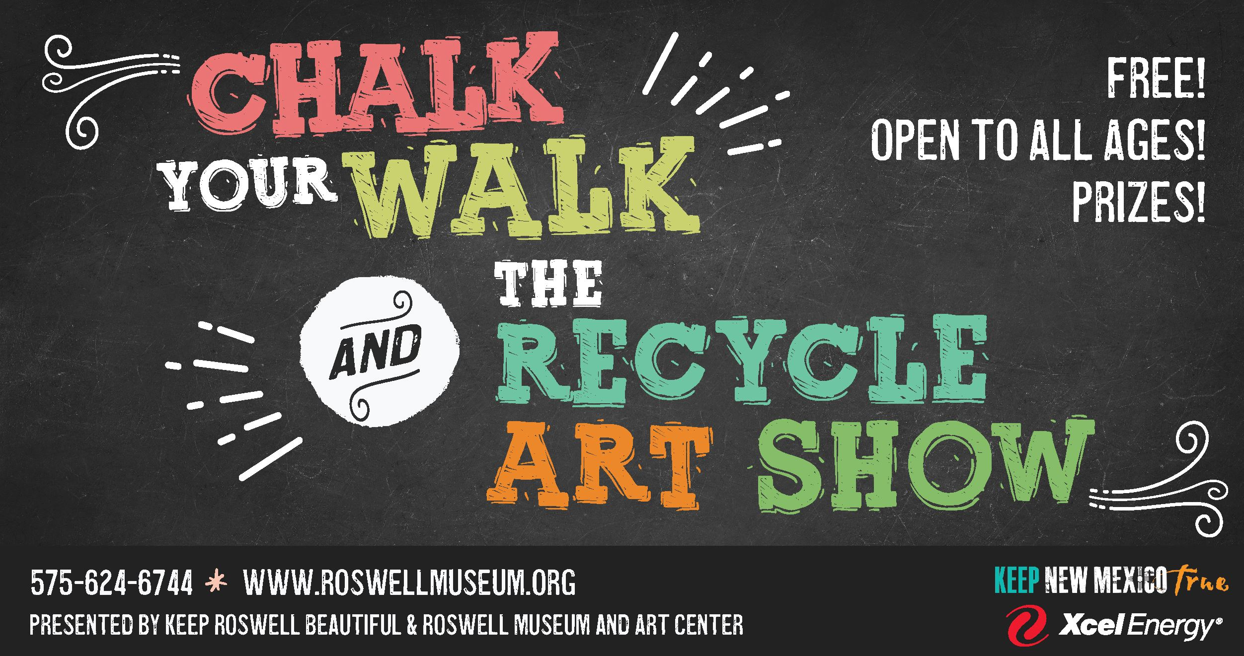 Infographic describing Chalk Your Walk and Recycle Art Show