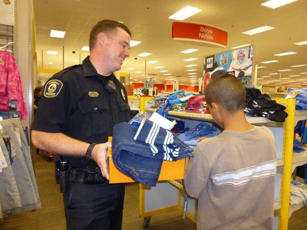 Cop Shopping with Boy