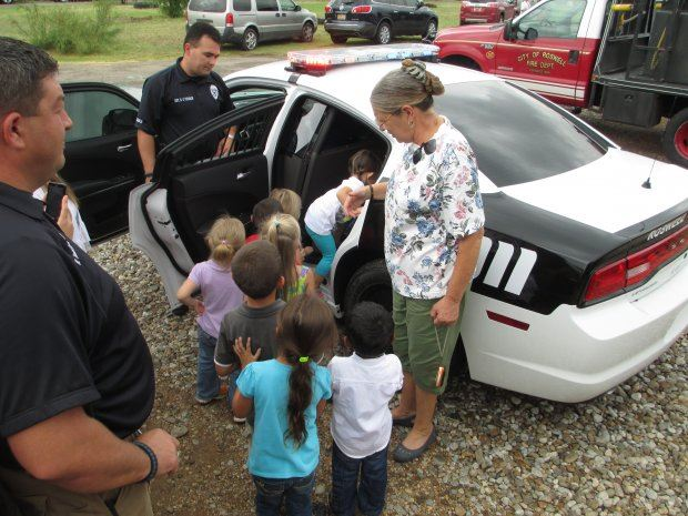 Kids Being Shown Police Car