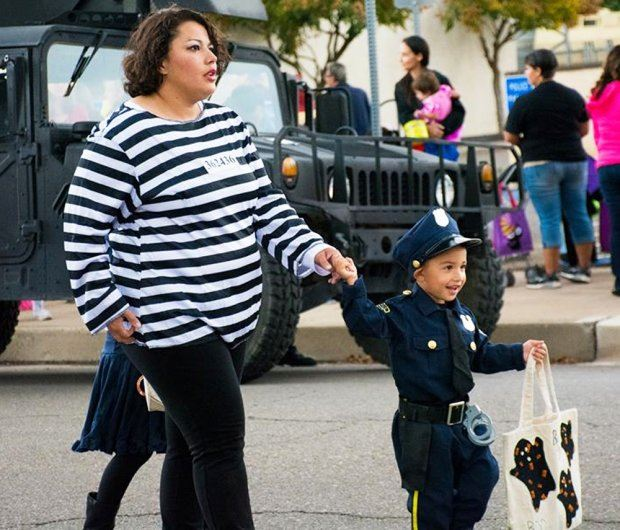 Little Boy Dressed as Police Officer