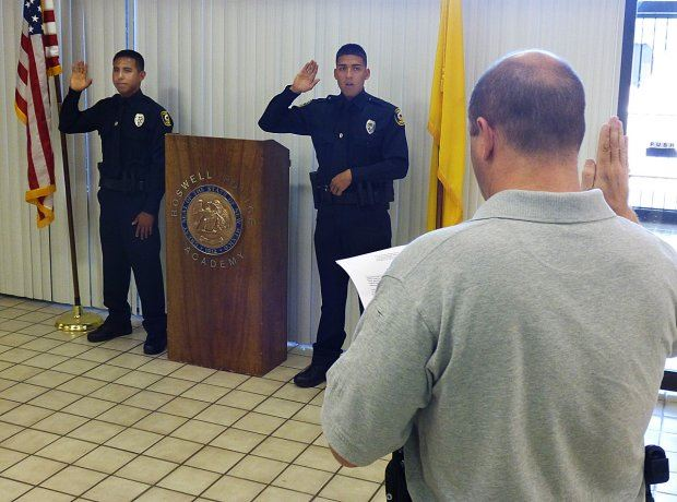 Officers Taking Oath