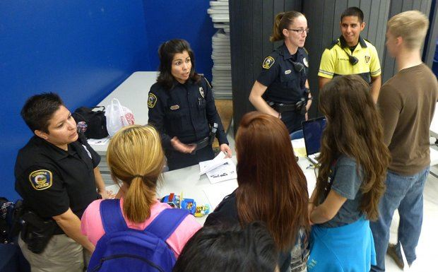 Police at Career Fair
