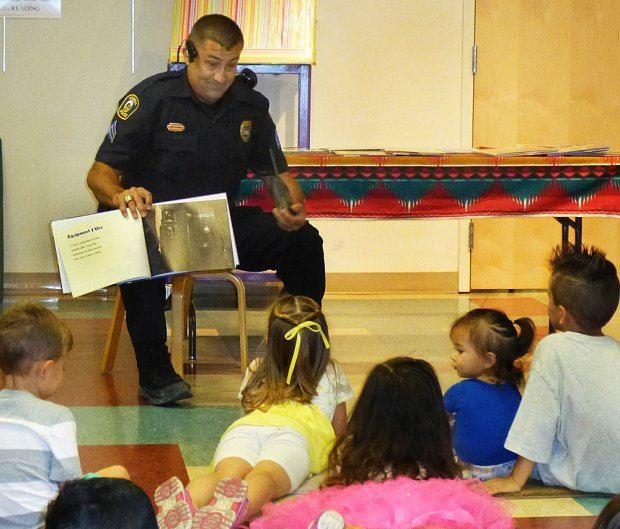 Reading with Police at the Library