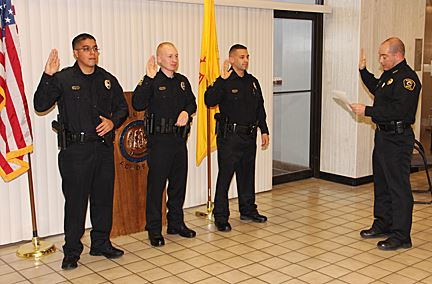 Three Officers Being Sworn In