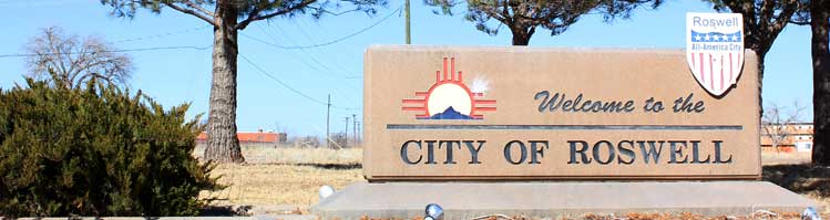 Welcome to City of Roswell Sign